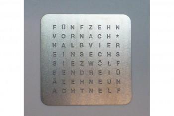 Frontplatte Wordclock Edelstahl 30mm