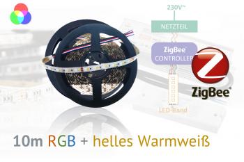 ZigBee RGB+W LED-Set: 10 Meter