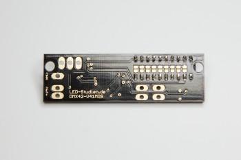 Micro DMX-LED-Controller, 7-28V, 4x2A, nur 19x67mm, V2