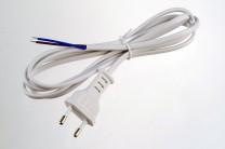 Euro-Anschlusskabel, 2-adrig, 150cm, weiß