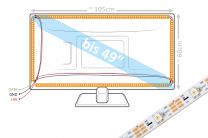 49 Zoll LED-Set
