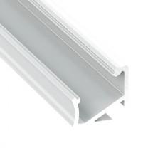 LED-Eckprofil H 30/60°, 2m, weiss