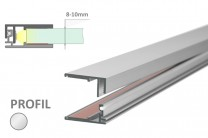 8-10mm LED-Glas-Profil Glaskante