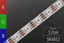 LED-Flexband digital SK6812 (wie WS2812) 4m, 60 Pixel/m