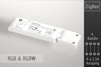 RGB(W) ZigBee LED-Controller, 4x1,5A
