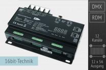 12-Kanal DMX/RDM LED-Controller, 12x5A, 35kHz, 16 Bit