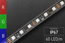 LED-Band digital WS2811 - 60 RGB-LEDs/m - IP67 - 12V