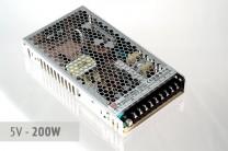 Netzteil 5V - 40A - 200 Watt | lüfterlos