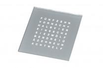 Frontplatte Wordclock Plexi silber 30mm