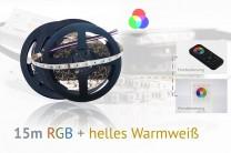 RGB+WW LED-Set: 15 Meter