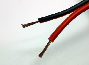 Zwillingslitze 0,5 mm² rot/schwarz