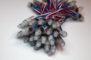 RGB-Einzelpixel mit Kabel, Kette 50 Stück