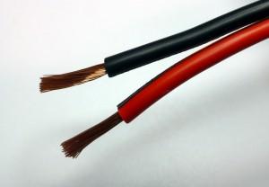 Zwillingslitze 2,5 mm² rot/schwarz