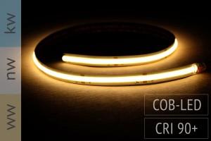 Neuheit: COB LED-Streifen - keine LEDs sichtbar - CRI90 - 14W/m - 1.400 lm/m