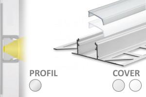 2m Fliesen LED-Profil FP1