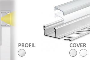 2m Fliesen LED-Profil FP2