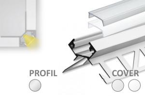 2m Fliesen LED-Profil FP5