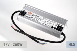 Netzteil 12V - 22A - 260 Watt, extrem leise