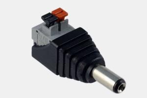 Hohl-Stecker 2,1/5,5mm Federklemmen