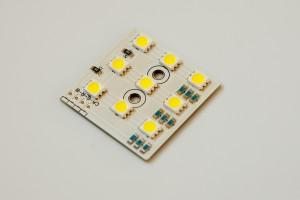 LED-Cluster 3x3 fertig bestückt kaltweiß