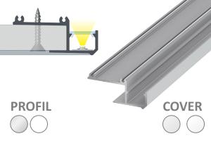 2m IPA Profil für indirekte Beleuchtung