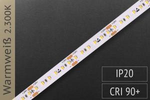 LED-Streifen mit 180 LED/m - 1.100 lm/m - warmweiß 2.300K