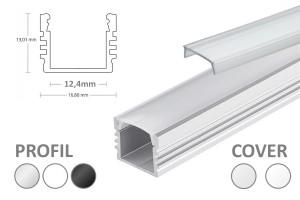 12mm LED-Aufsatz-Profil PL2