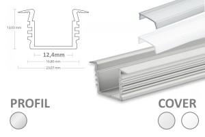 2m LED-Einsatz-Profil PL3