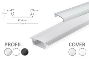 12mm LED-Einsatz-Profil PL8