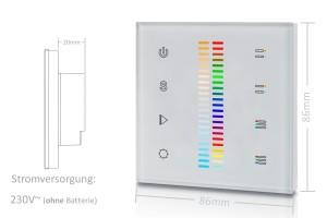 RGB+CCT Wandsteuerung   Touch-Bedienfeld