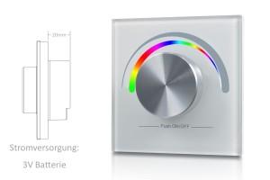 RGB Wandsteuerung mit großem Drehknopf - 1 Zone