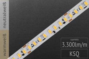 Hellster Streifen im Programm: LED-Streifen 5630 HE, 128 LEDs/m, 3.300 lm/m