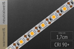 Teilbar nach jeder einzelnen LED: LED-Streifen 5050, 60 LED/m, 1.100lm/m