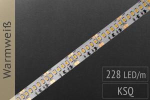 Hochdichte Variante mit KSQ: LED-Streifen 3528, 228 LED/m, 1.600 lm/m