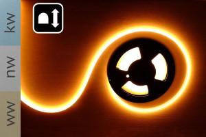 Neon Flex LED Band - 12W/m - 11mm breit - VERTIKAL biegbar