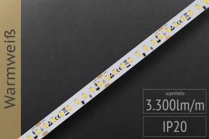 LED-Streifen 2835 - WW 2700K - 3.300lm/m - 24V