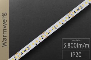 LED-Streifen 2835 - WW 3000K - 3.800lm/m - 24V