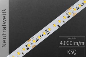 LED-Streifen 2835 NW 4000-4500K, 4.000lm/m, 24V