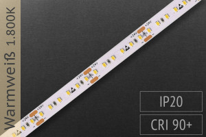 LED-Streifen mit 180 LED/m - 1.000 lm/m - warmweiß 1.800K