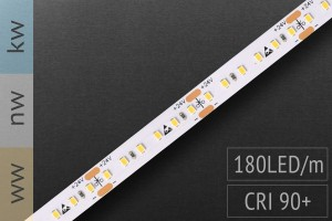 Hochdichter LED-Streifen 2016 - 180 LED/m - teilbar alle 3,3cm - 1.100 lm/m