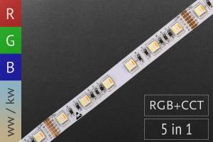 RGB+CCT für Akzentbeleuchtung - 60 LED/m - 24V