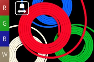 RGBW Neon Flex Band - 17W/m - 10mm breit - HORIZONTAL biegbar - 10m Rolle