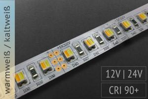 Einstellbare Farbtemperatur: BiColor LED-Streifen, 120 LED/m, 1.300 lm/m