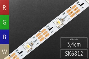 LED-Band digital SK6812 RGBW - 5m - 30 Pixel/m