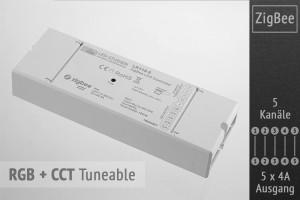 ZigBee RGB+CCT-Controller | 5 x 4A