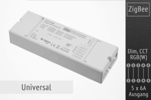 ZigBee Universal LED-Controller | 5 x 6A