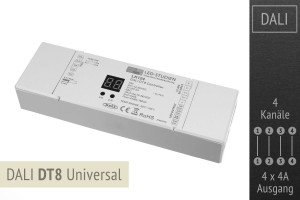 DALI-LED-Controller DT8 Universal, 4x4A