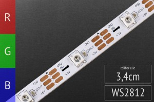 LED-Flexband digital WS2812-30 5m Rolle, 30 Pixel/m