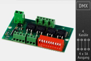 DMX-Receiver MY9942 MOSFET, Schraubklemmen