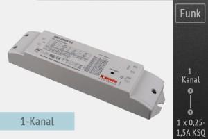 AC Funk-Controller, 1 Kanal, 250-1500mA KSQ, bis 50 Watt